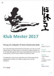 klubmester2017 invitation